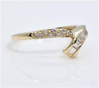 897 High End G SI1 1 2ctw Genuine Diamond 14k Gold Wedding Ring Band Size 7