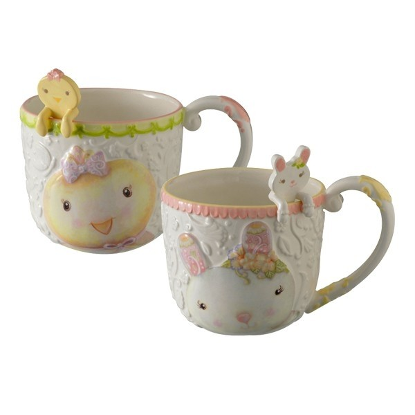 Spring boutique bunny or chick sweet tales mug w spoon for Grasslands road mugs