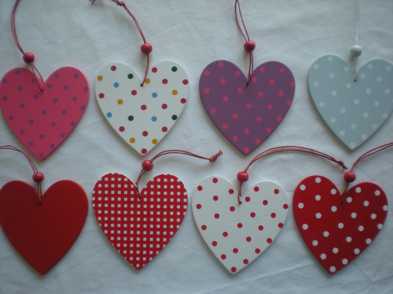Shabby chic wooden heart hanging decoration xmas door for Hearts decorations home