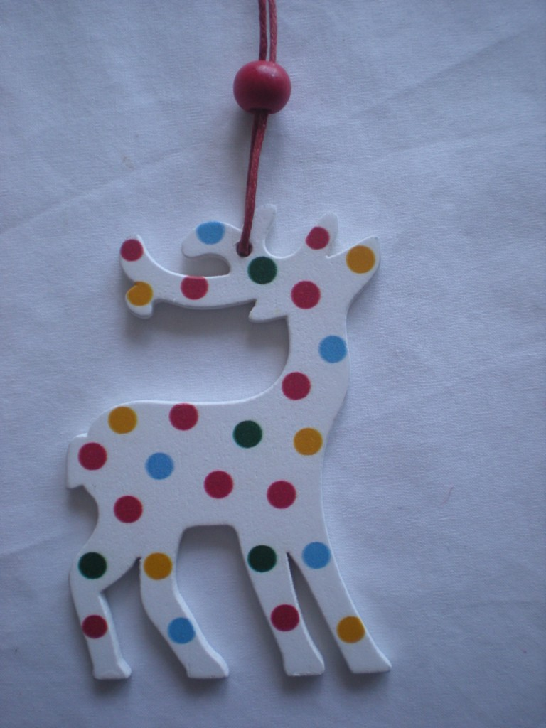 WOODEN-REINDEER-rudolph-HANGING-xmas-tree-DECORATION