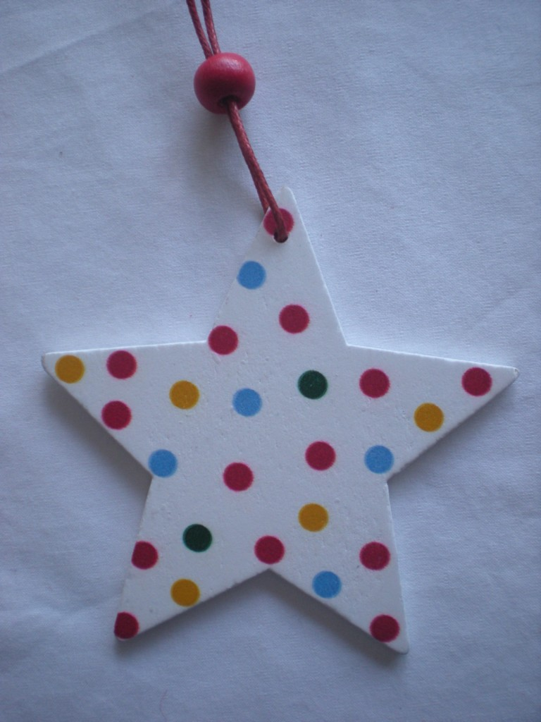 Shabby-chic-WOODEN-STAR-HANGING-xmas-tree-DECORATION