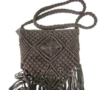 Crochet Fringe Bag : ... about new Topshop Chocolate Macrame Crochet Fringe Cross Body Bag