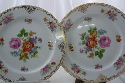 Noritake Occupied Japan Cameo Pattern Rimmed Soup Bowl