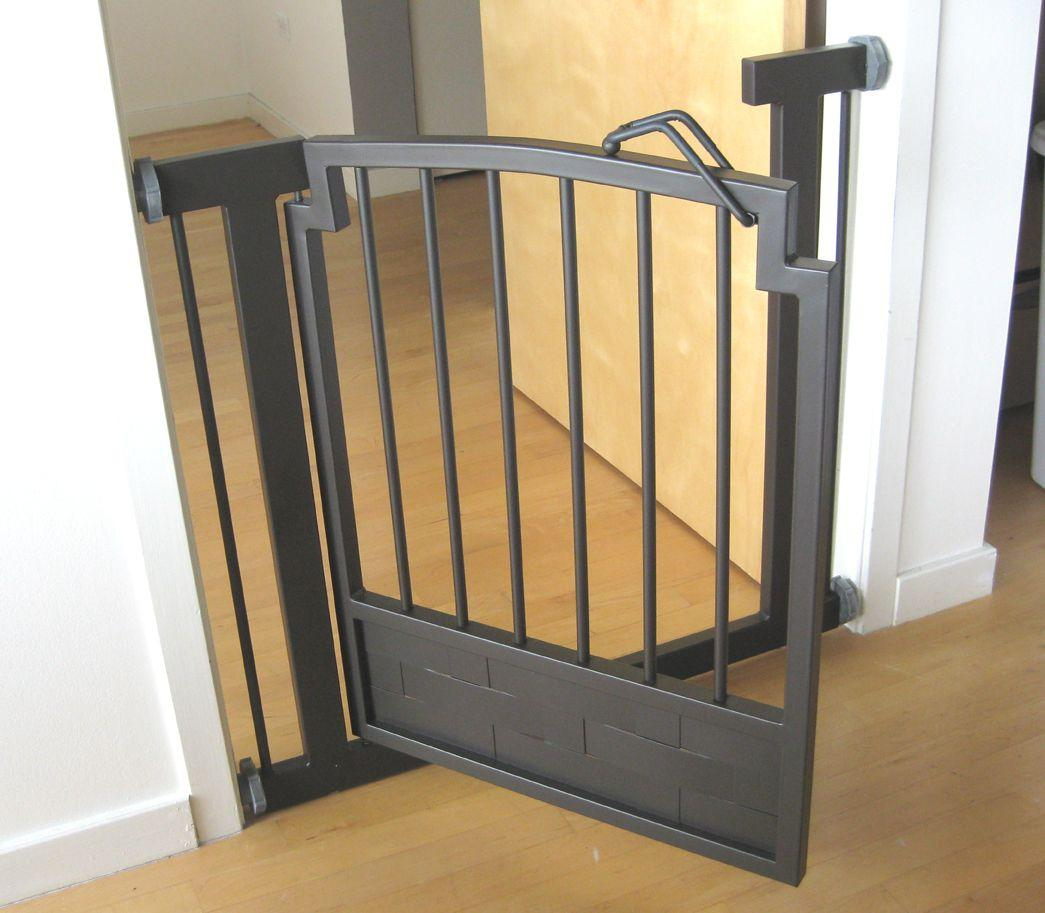 Indoor-DOG-GATE-Safety-pet-fence-METAL-32-034-H-hallway-or-doorway ...