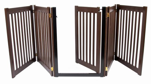 ... thru-door-DOG-GATE-expand-to-9-ft-extra-long-fence-zig-zag-indoor-pen