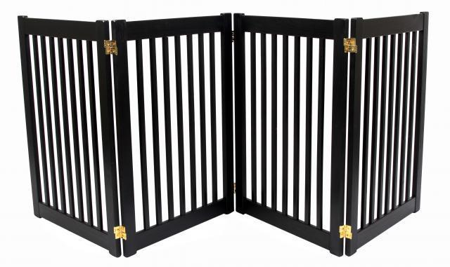 DOG-GATE-wood-FREESTANDING-indoor-barrier-large-dog-27-034-or-32-034 ...