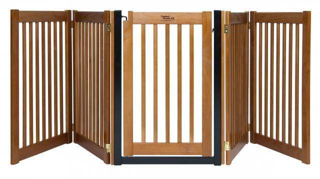 Wood door dog gate expand to ft extra long fence indoor