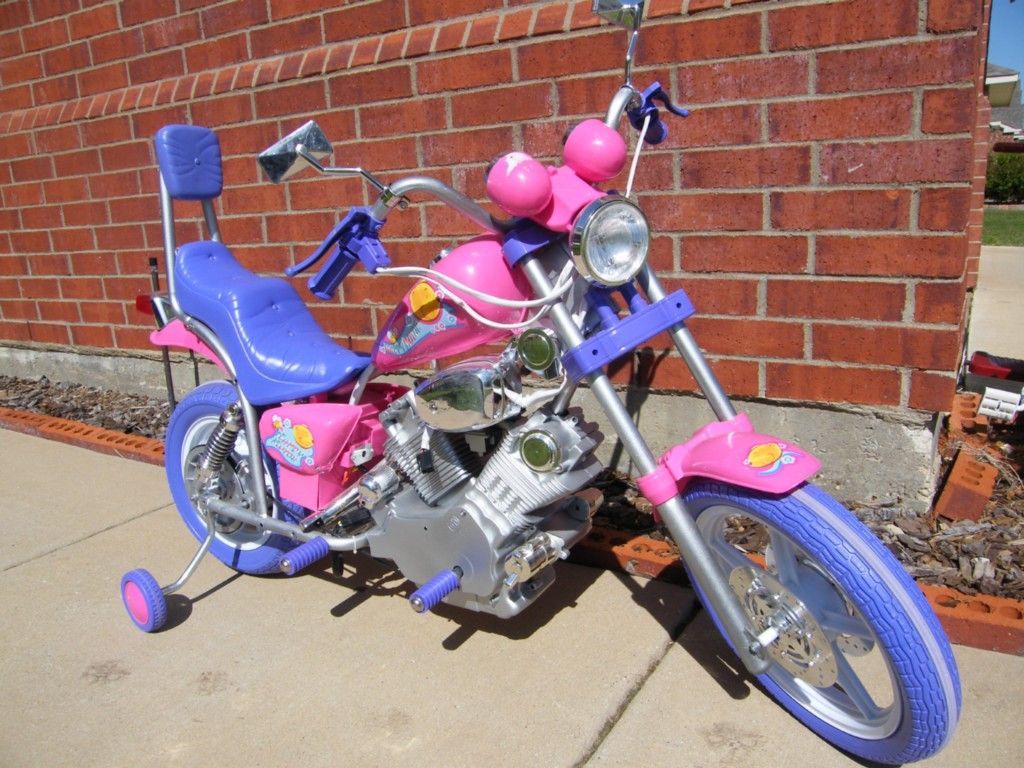 Pink Girls Power Ride on Motorcycle Wheels Kids 6v Harley ...