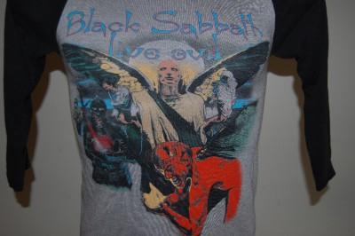 Black Sabbath Live Evil T shirt 1982 World Tour Concert