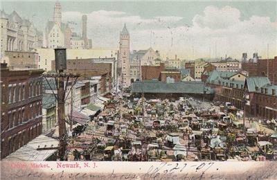 antique postcard c1907 centre market newark nj 18916 ebay. Black Bedroom Furniture Sets. Home Design Ideas