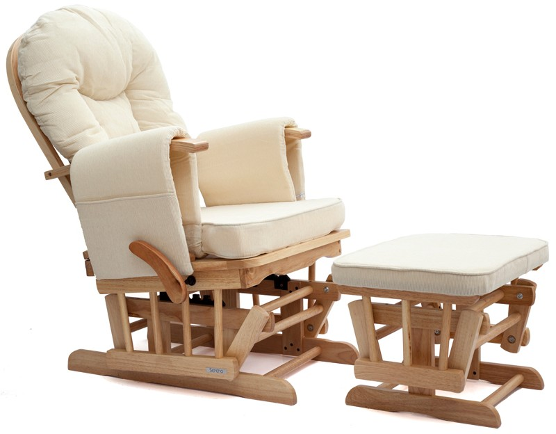 natural wood or white nursing glider maternity rocking chair srp 299