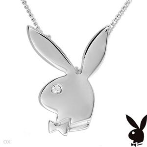 New authentic playboy signature bunny necklacependant new rare authentic playboy signature bunny necklacependant5 leftnr aloadofball Image collections
