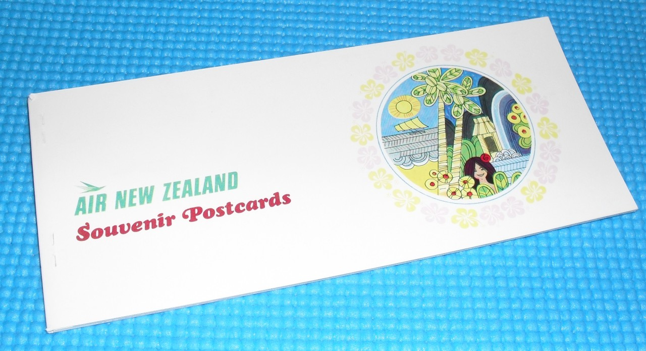 VINTAGE-AIR-NEW-ZEALAND-SOUVENIR-POSTCARD-BOOK-6-VIEWS-1970-MINT-COND-FREEPOST
