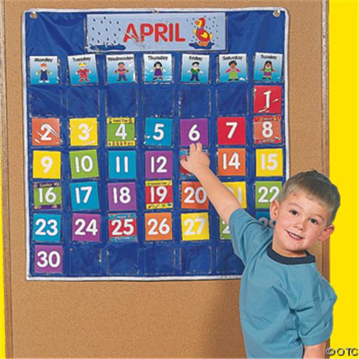 Calendar Ideas For Classroom : Calendar pocket chart teacher classroom homeschool new ebay