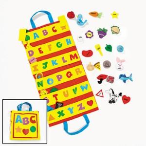 31 Plush Alphabet Letters Travel Felt Pocket Chart NEW | eBay