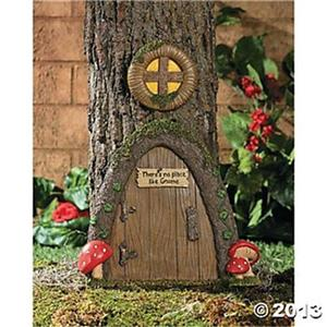 Garden gnome home door tree art outdoor yard patio deck for Gnome 3 decoration fenetre