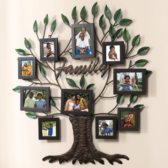 New 27 X28 Photo Family Tree Metal Wall Art Ebay