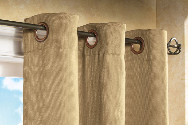 What window curtain colors best match dark brown (espresso colored
