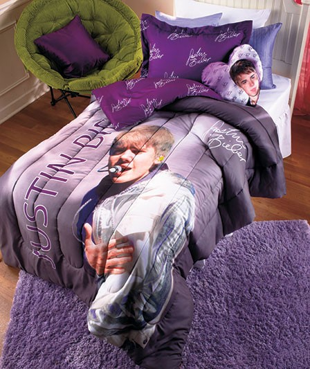 new justin bieber full photo signature comforter set