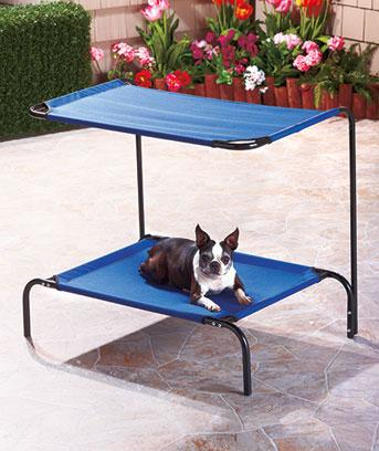 New relaxing outdoor blue dog puppy pet bed with canopy - Outdoor dog beds with canopy ...