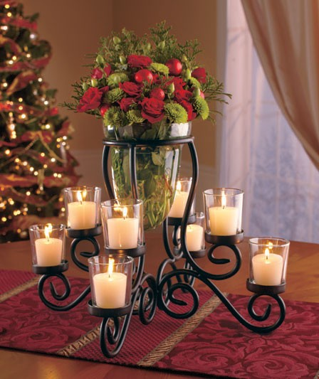New cup scrolled votive candle holder vase centerpiece