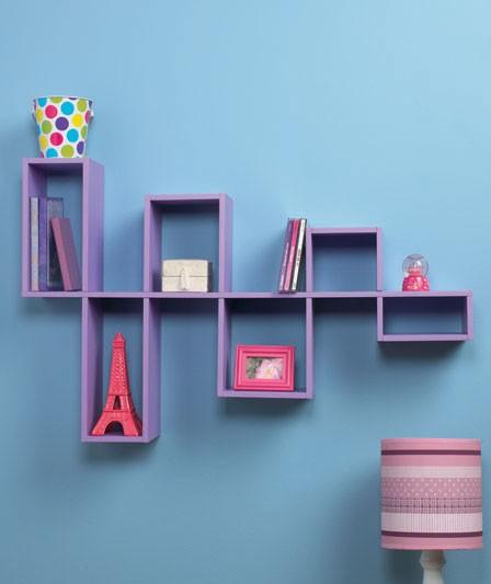 Contemporary Wall Shelves Decorative: NEW Modern Modular Wall Shelves Contemporary Decor DVD