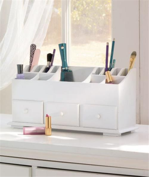 New Wooden Vanity Beauty Cosmetic Makeup Storage Organizer