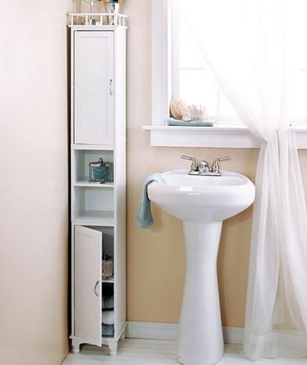 New 65 034 slim storage cabinet space saver organizer white black walnut ebay for Bathroom space saver cabinets