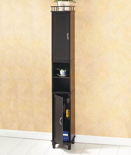 New 65 Slim Storage Cabinet Kitchen Laundry Pantry Bathroom Shelves Ebay