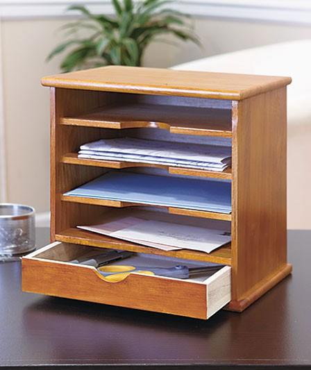 new home office desk top wooden mail organizer storage. Black Bedroom Furniture Sets. Home Design Ideas