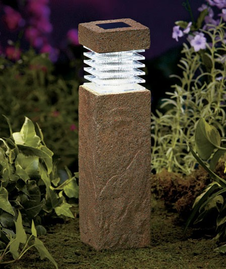 Solar Lights For Driveway Pillars: NEW Wireless Solar Outdoor Path Lighting Garden Pillars