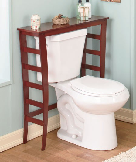 Excellent Simply White Bathroom Storage Cabinet Table Stand Decor  Main Image
