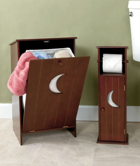 New Outhouse Bathroom Storage Hamper Or Toilet Paper