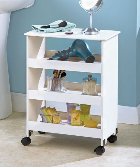 Popular Home Absolute White 250mm 4 Drawer Bathroom Storage Unit