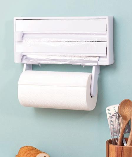 new kitchen wrap dispenser paper towel holder wall mount ebay. Black Bedroom Furniture Sets. Home Design Ideas