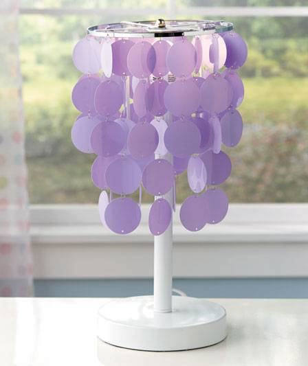 New colorful accent table lamps teens or tweens room decor purple pink or white ebay - Table lamps for teens ...