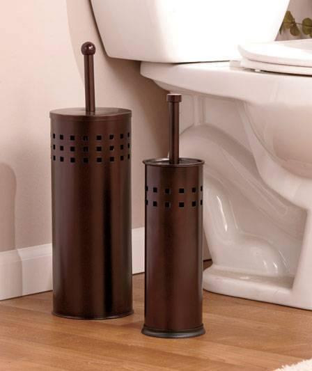 new chrome metal stainless steel or bronze toilet bowl brush or plunger ebay. Black Bedroom Furniture Sets. Home Design Ideas