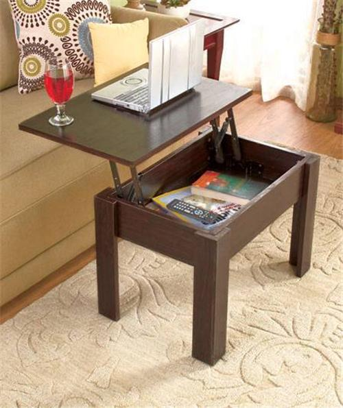 New lift top wood coffee table hidden storage modern furniture lap top ebay Lift top coffee tables storage