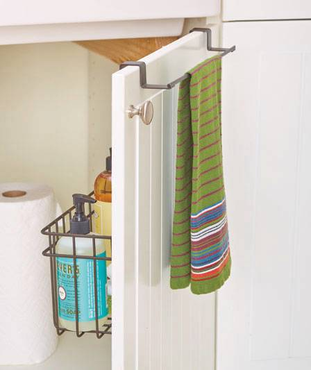 NEW Over The Cabinet Door Towel Bar W Storage Basket Organizer BROWN - Over  The Door - Door Cabinet Storage & Latest Glass Storage Cabinet Storage