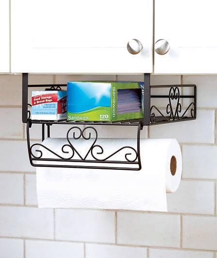 New Under Cabinet Shelf Organizer Storage Paper Towel