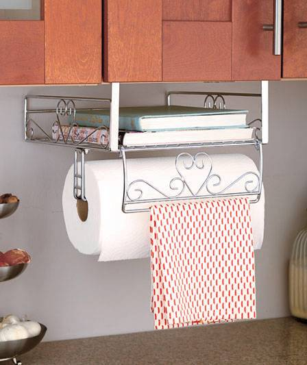 Image is loading New-Under-Cabinet-Shelf-Organizer-Storage-Paper-Towel-
