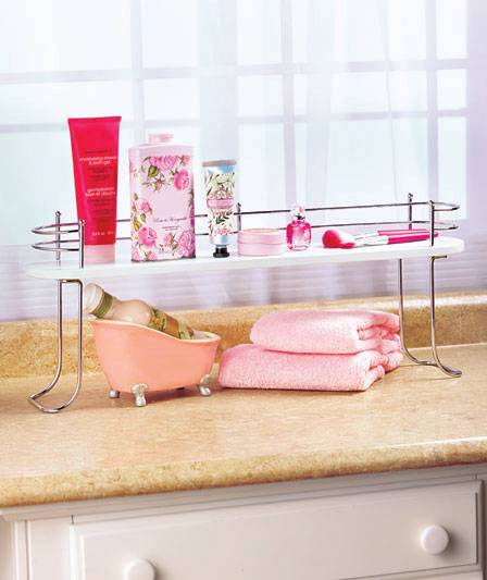 Luxury Bathroom Glass Shelves Above Sink  Advice For Your Home Decoration