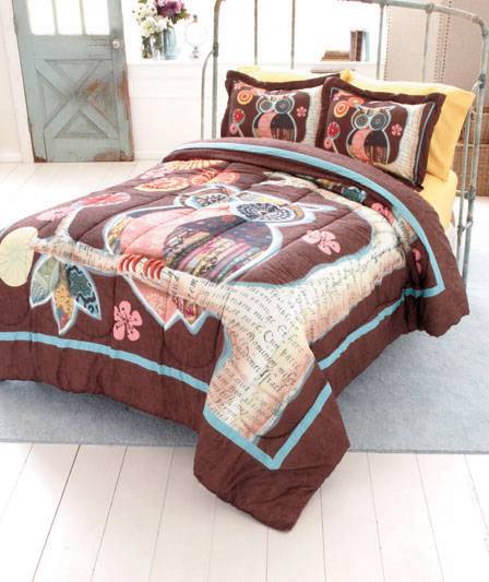 New Trendy Owl Friend Bedroom Comforter Twin Or Full