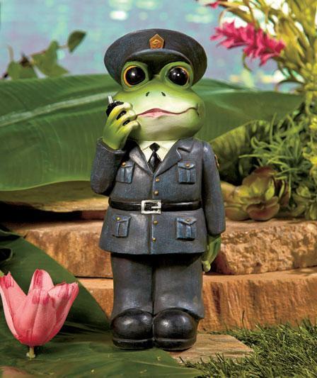 NEW Occupational Frog Garden Statue Fireman Teacher Police
