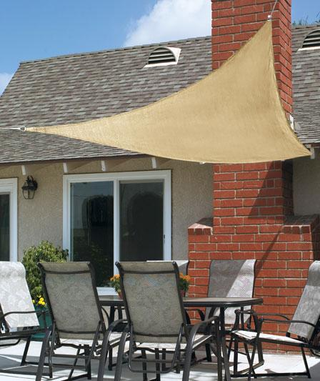 New 10ft triangle sun block shade sail uv canopy awning patio deck porch pool ebay - Shade canopy for deck ...