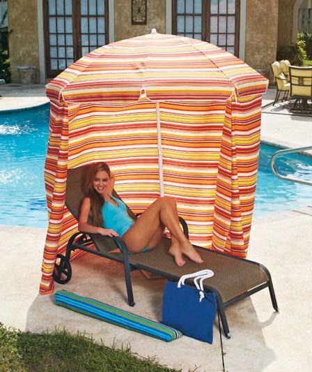 Cabana Portable Shelter : New portable cabana uv shade canopy umbrella privacy