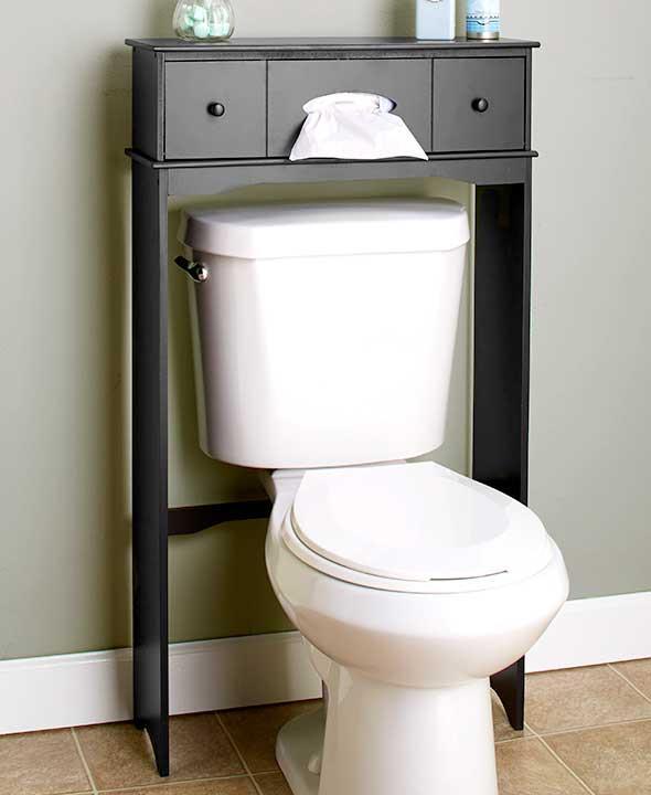 new over the toilet cabinet space saver organizer storage table teal black white ebay. Black Bedroom Furniture Sets. Home Design Ideas