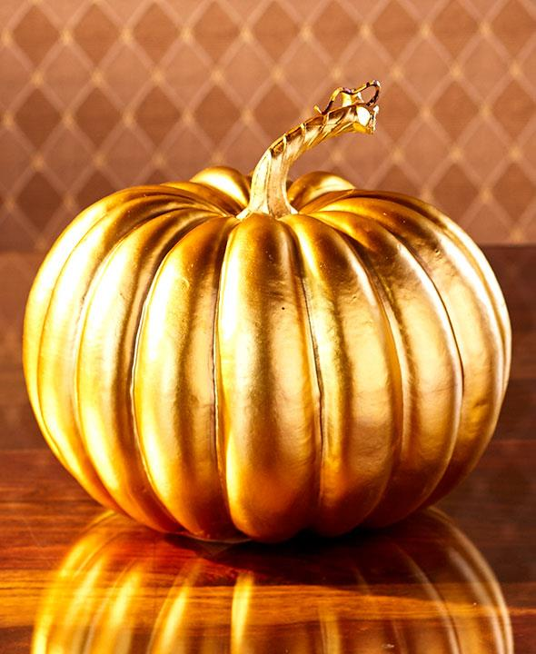 NEW Halloween Fall Autumn Glamorous Designer Pumpkins Gold ... - photo#37