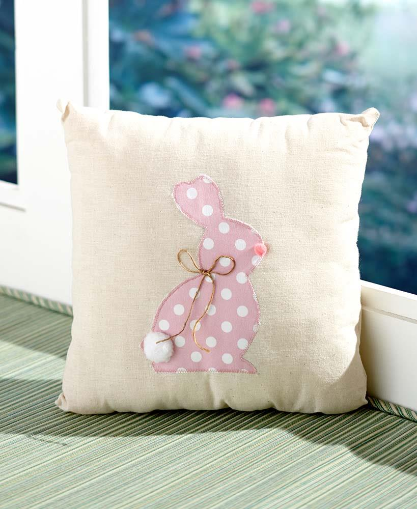 NEW Green Cottontail Pillow Bunny Rabbit Decorative Easter Decor eBay