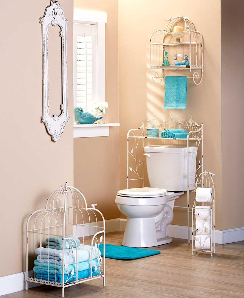 ALSO AVAILABLE. NEW Vintage Birdcage Bathroom Towel Stacker Storage Organizer Rack